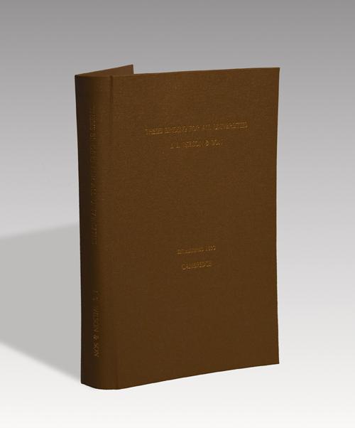 wilson thesis binding cambridge Hard-case binding from our partners j s wilson & son arrange hard-case thesis binding in the city centre with the cambridge university library/department.